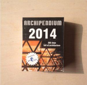 ベルリンの出版社 Archimappublisher による建築の日めくりカレンダー「Archipendium」に「玉津の住宅 / house in tamatsu」掲載