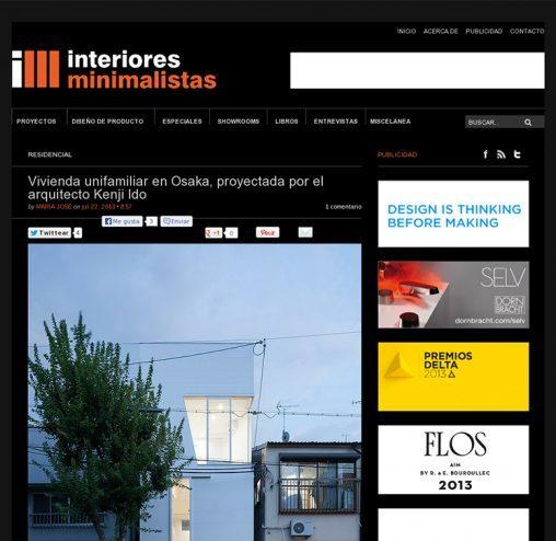 interiores minimalistas「玉津の住宅 / house in tamatsu」掲載