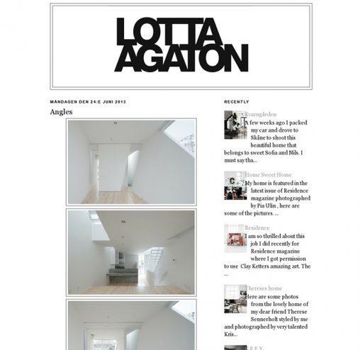 lottaagaton.blogspot.se「玉津の住宅 / house in tamatsu」掲載