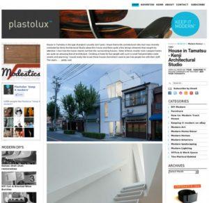 plastolux.com「玉津の住宅 / house in tamatsu」掲載