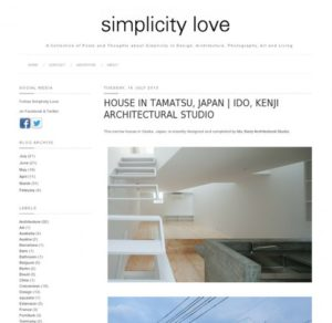 simplicitylove.com「玉津の住宅 / house in tamatsu」掲載