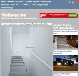 thelayer.me「玉津の住宅 / house in tamatsu」掲載