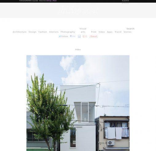 thisispaper「玉津の住宅 / house in tamatsu」掲載