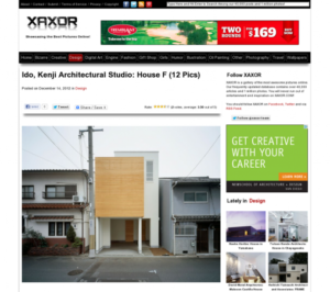 xaxor.com/design「House F」掲載